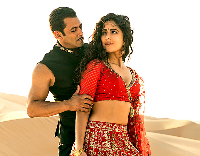 Salman Khan and Katrona Kaif in Bharat