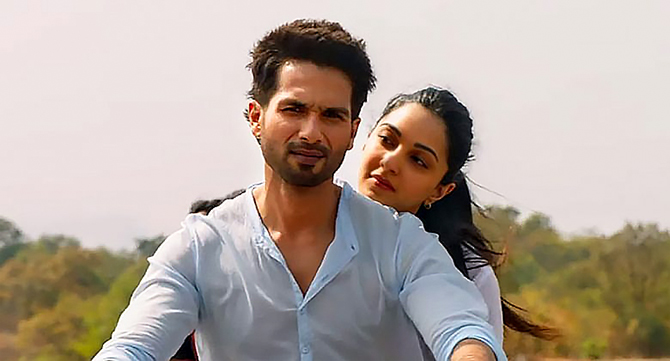 Shahid Kapoor and Kiara Advani in Kabir Singh