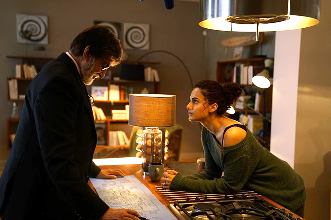 Taapsee with Amitabh Bachchan in Badla. Photograph: Kind courtesy Taapsee Pannu/Instagram