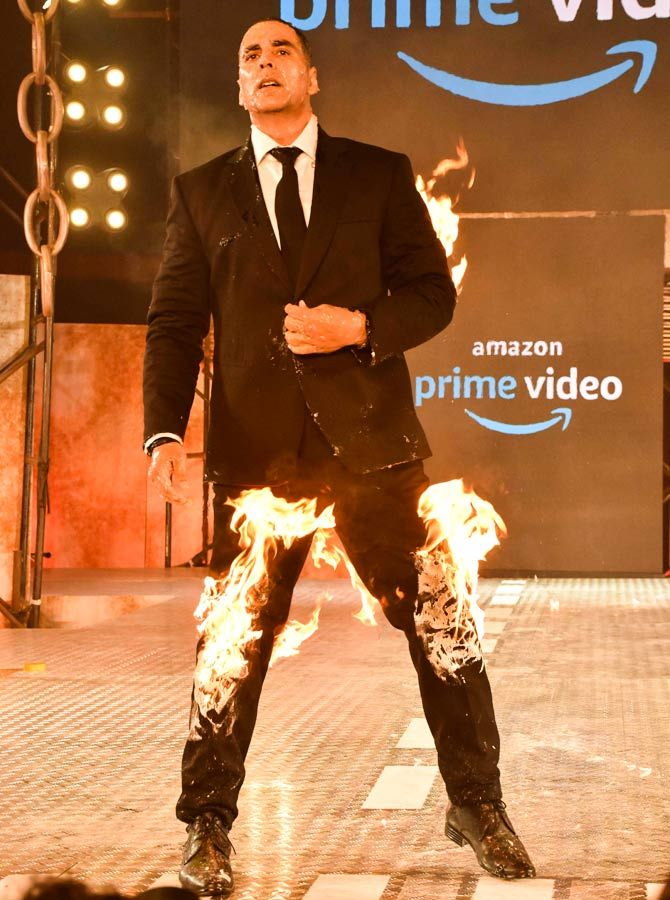 Akshay Kumar at the launch of his series for Amazon, The End