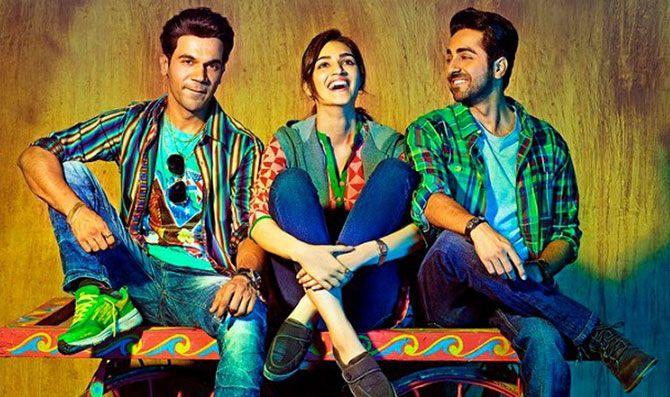 Rajkummar Rao, Kriti Sanon and Ayushmann Khurrana in Bareilly Ki Barfi