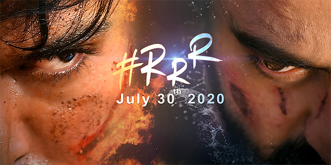 A poster for RRR