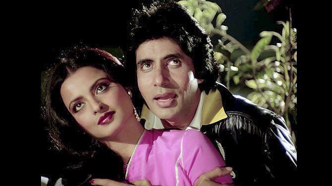 Rekha and Amitabh Bachchan in Silsila