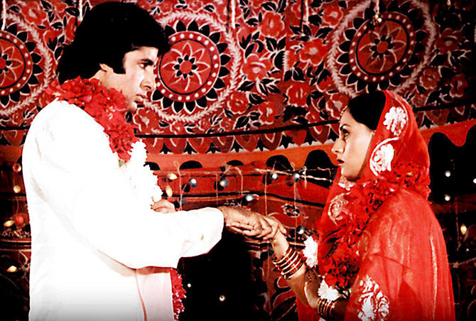 Amitabh and Jaya Bachchan in Silsila