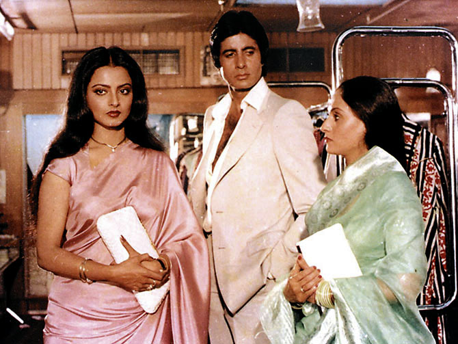 Rekha, Amitabh and Jaya Bachchan in Silsila