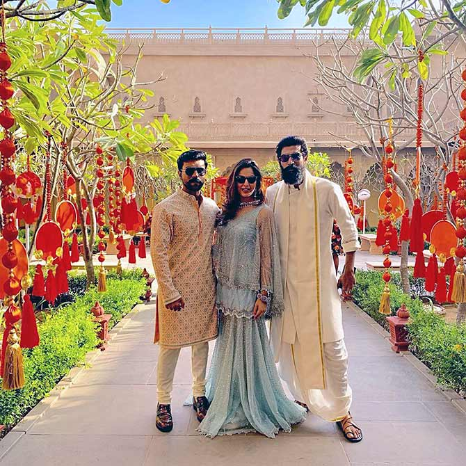 Venkatesh's child weds: Salman, Rana, Ram Charan attend    - Rediff