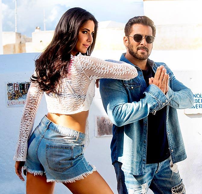 IMAGE: Katrina Kaif and Salman Khan in Tiger Zinda Hai.