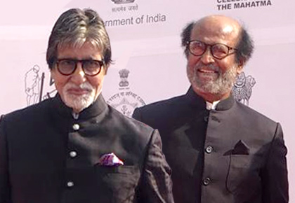 PIX: Rajinikanth rubs shoulders with Amitabh Bachchan
