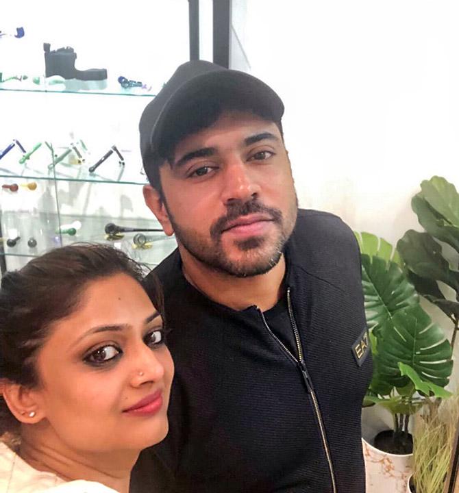 Nivin with Geetu Mohandas. Photograph: Kind courtesy Geetu Mohandas/Instagram