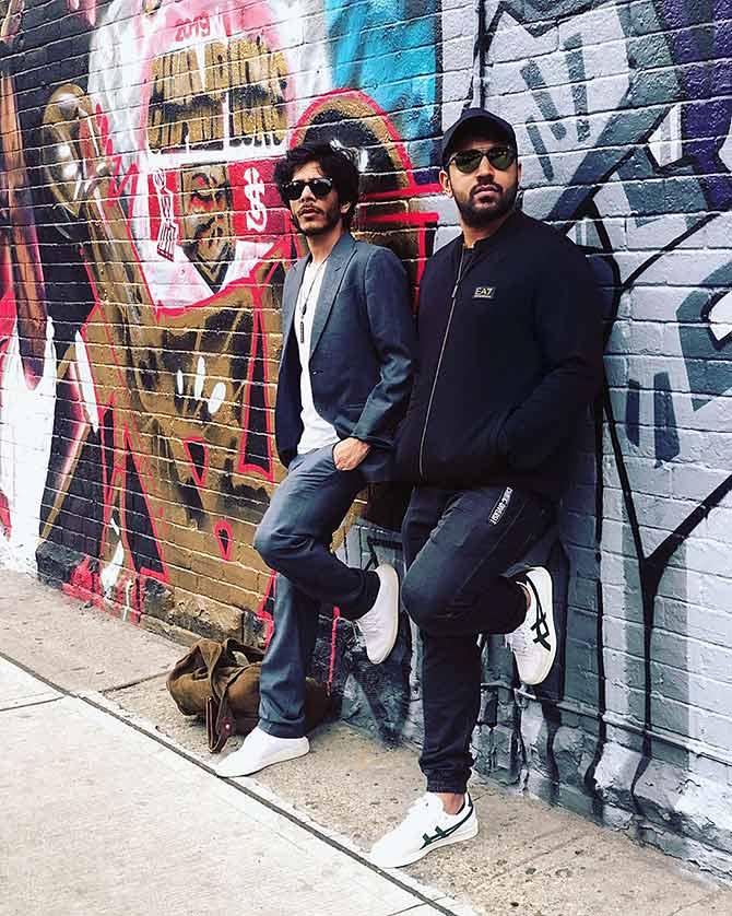 Nivin with Shashank Arora. Photograph: Kind courtesy Nivin Pauly/Instagram