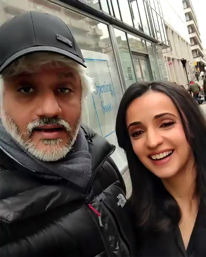 Vikram Bhatt with Sanaya Irani. Photograph: Kind courtesy Vikram Bhatt /Instagram