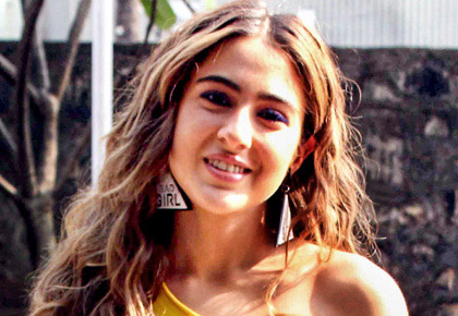 What is Sara Ali Khan shooting for?
