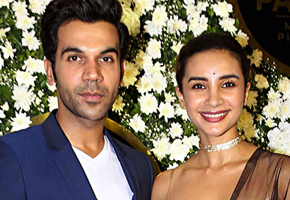 PIX: Rajkummar, Patralekhaa at a Diwali party