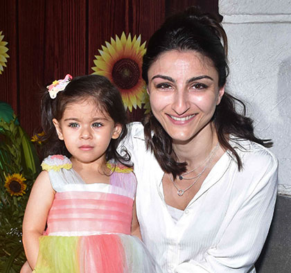 PIX: Soha-Inaaya step out for a birthday party