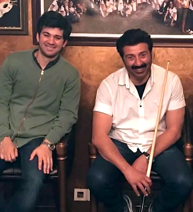 Father-son enjoy some time off. Photograph: Kind courtesy Karan Deol/Instagram