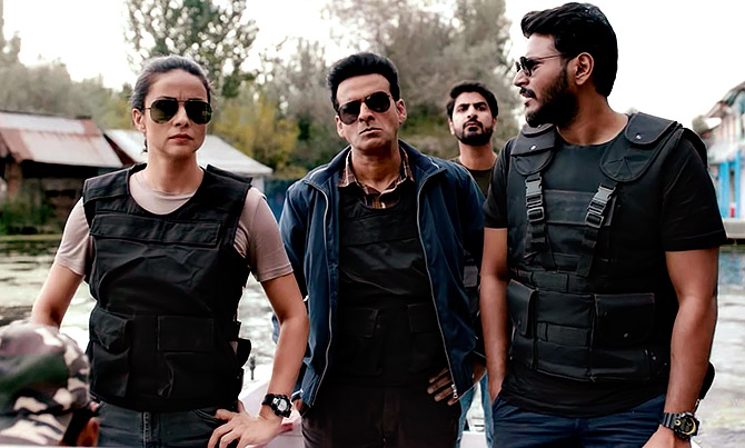 Gul Panag and Manoj Bajpayee in The Family Man.