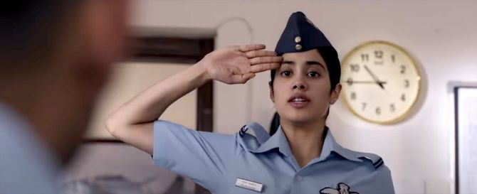 Iaf Writes To Censor Board About Undue Negative Portrayal In Gunjan Saxena Rediff Com India News