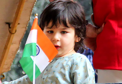 PIX: Taimur celebrates Republic Day