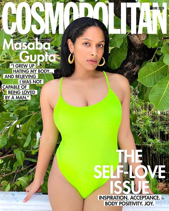 Masaba Gupta in a monokini on Cosmopolitan India