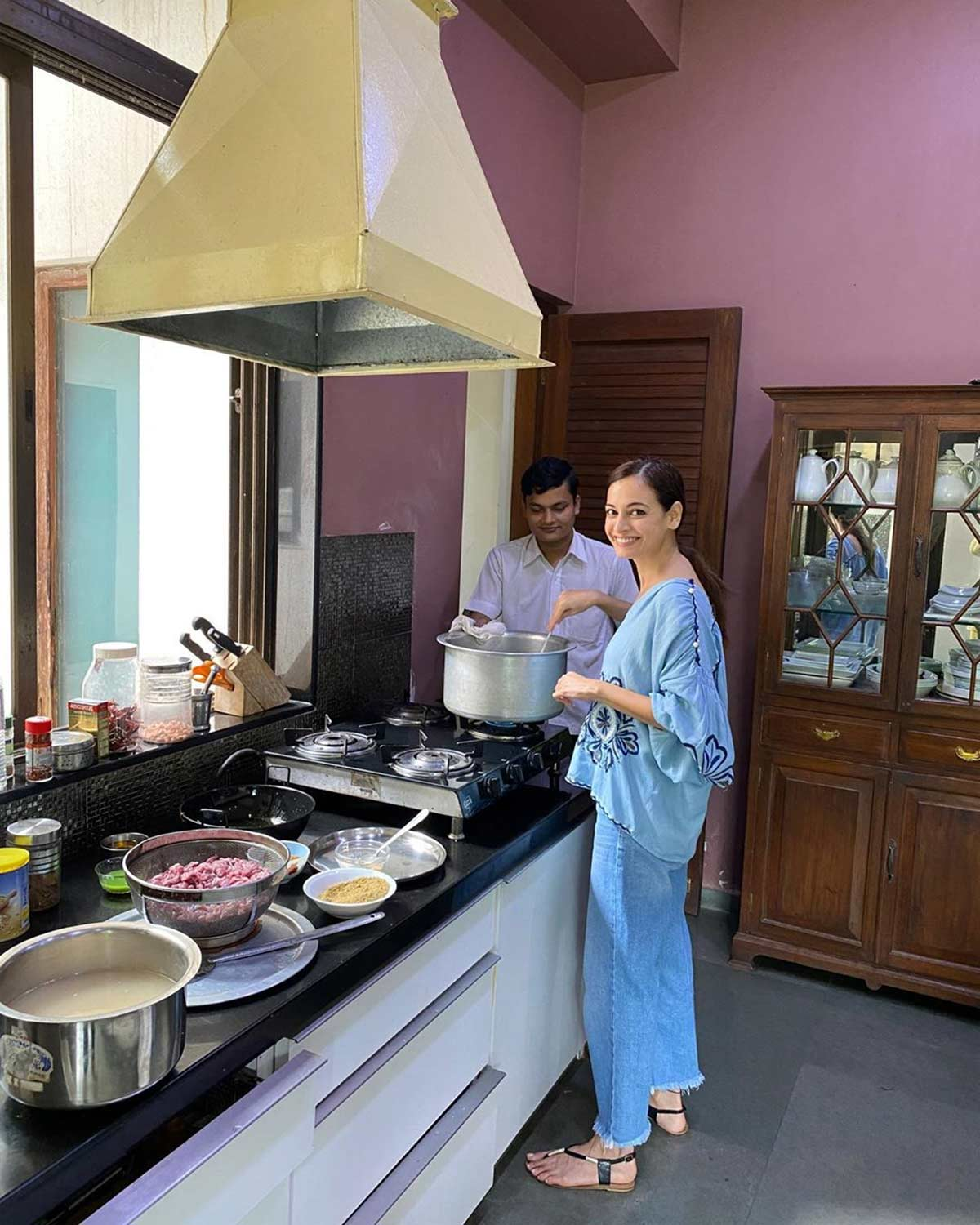 What is Dia Mirza cooking?