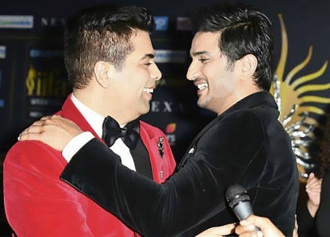 Karan Johar with Sushant Singh Rajput