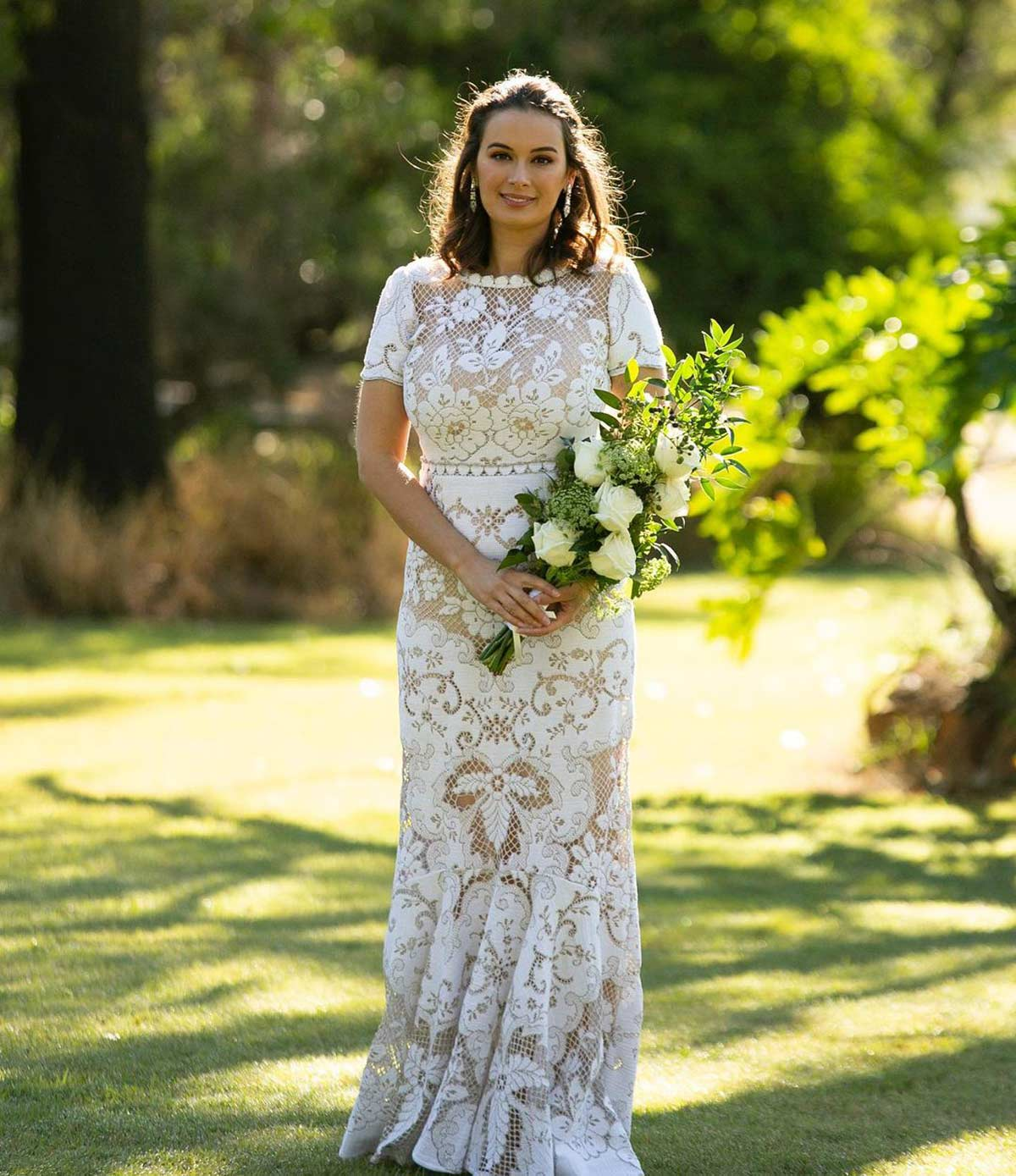 The story behind Evelyn's wedding gown