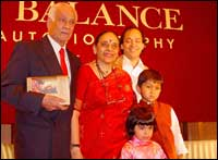 Leila Seth with her family members