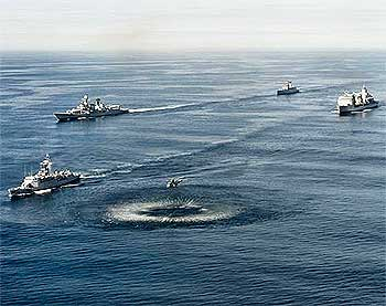 The two navies in formation