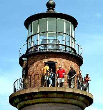 US President Barack Obama and his family and friends tour Gay Head lighthouse in Aquinnah on Martha's Vineyard