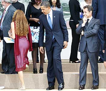 Obama with Sarkozy at the G8 summit