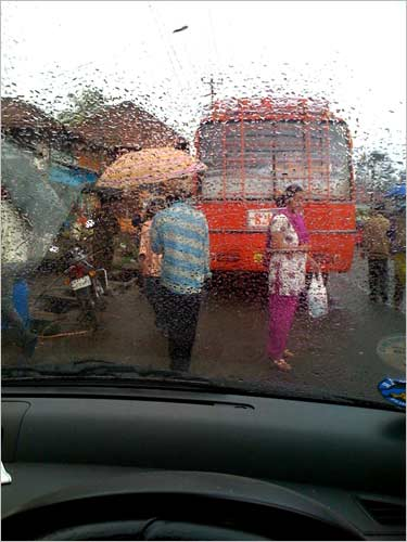 Traffic snarls! Use the time to click some great monsoon images like this one!
