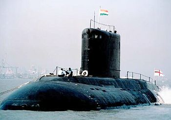 The 6,000 tonne INS Arihant, India's first indigenous nuclear submarine
