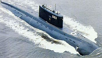The Sindhurakshak submarine in action