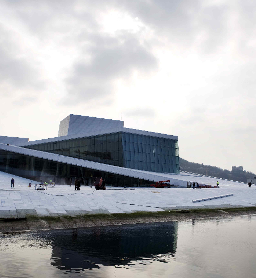 The new opera house in Oslo, Norway