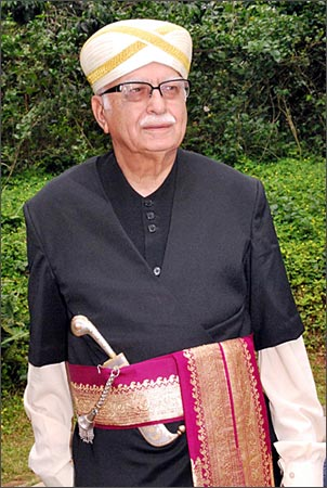 Advani in the traditional Kodava attire at Kodagu.