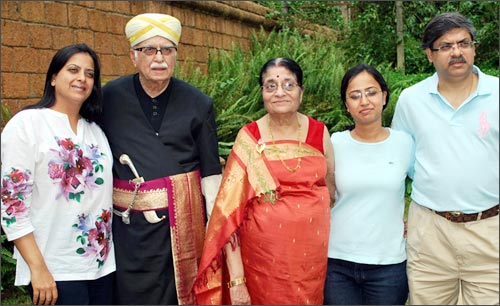 Adavni with his family.