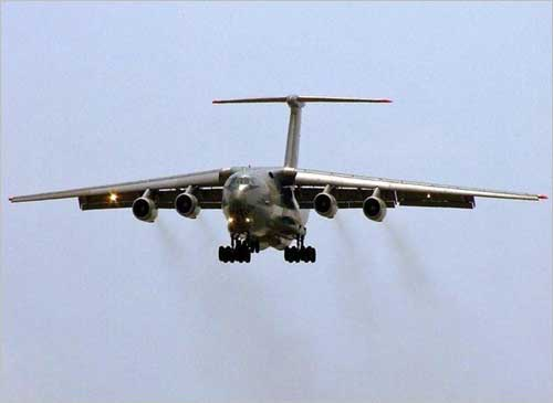 The Russian-made IL-76, on which the Phalcon radar is mounted