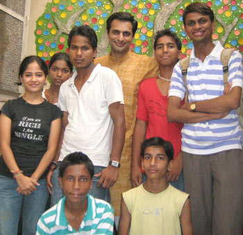 Ravi Gulati with some students at his home-cum-school