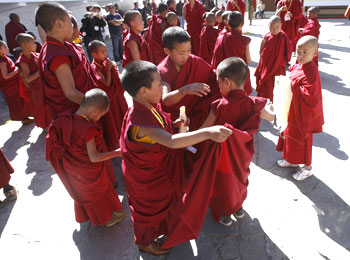 Monks at the Tawang monastery had reasons to cheer.