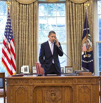 President Obama in the Oval Office.