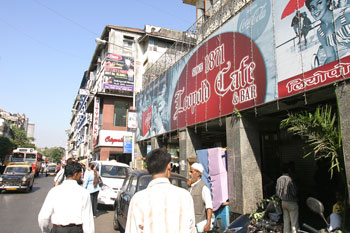The Leopold Cafe, which was attacked by terrorists on November 26.
