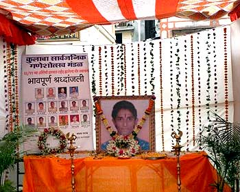Relatives and friends have put up a memorial for NSG's Gajendra Singh