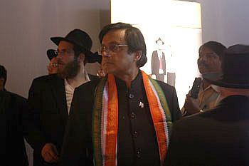 Shashi Tharoor at the Chabad House