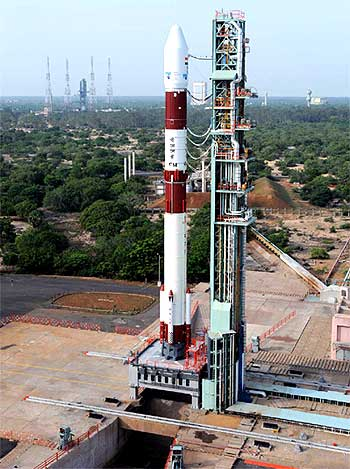 The launch of PSLV-C14 at Shriharokota on Wednesday