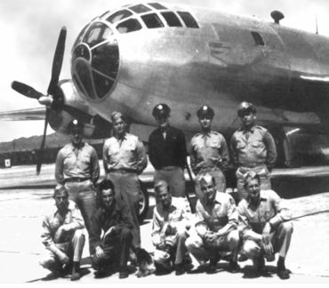 The Bockscar and its crew, who dropped the 'Fat Man' atomic bomb on Nagasaki