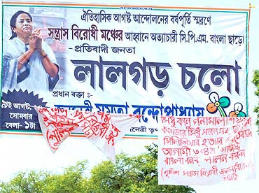 A TMC poster at Lalgarh in Jungle Mahal