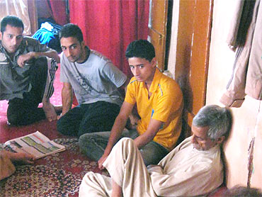 The youngsters in a Srinagar home