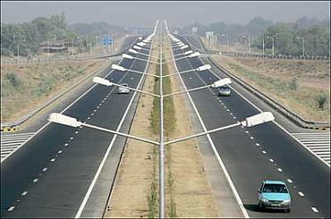 The new national highway in Rajasthan