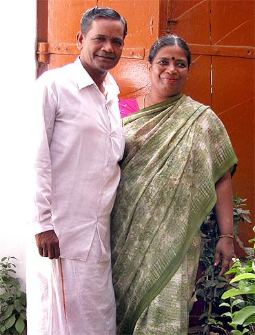 Udaya's parents N Dharmalingam and D Jayalakshmi