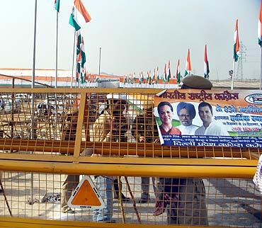 A poster at the Congress conclave in Burari
